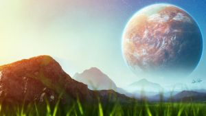 Alien Green Planet by AndrieriStefano