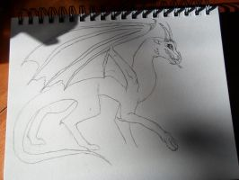 dragon scetch 1 by magicsnowleopard