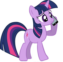 Twilight-on-Phone w Phone by PonySalute