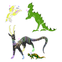 Reptiles(x4!) - From Lizards to Dragons - Adopted by Windup-Ghost