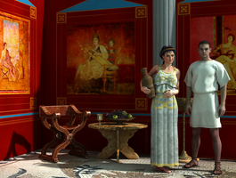 Roman Room1c Couple2 by digihumper