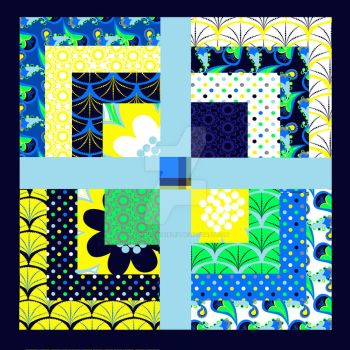 Rain or Shine mock quilt by PeriwinklePaisley