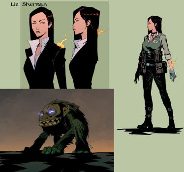 Liz Sherman and the little hairy maneater by drazebot