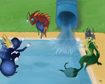 Relaxing by the pool (my OPL entry) by Mikiomi