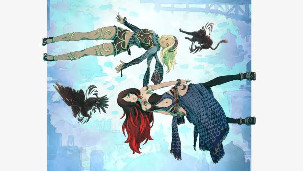 Gravity Rush 2 Redux - upside right by ZedEdge