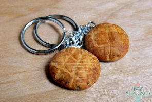 Boudin Bakery Inspired Sourdough Key Chains by Bon-AppetEats