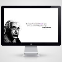 Albert Einstein by Faisalharoon