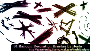 Random Decorations 01 by H0shii