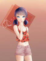 Pucker up! [Miraculous Ladybug] by Mazzue