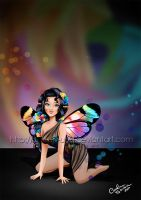 Rainbow Flowers Fairy by Queen-Uriel