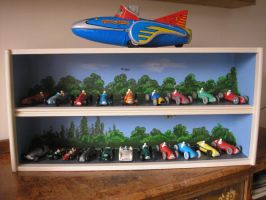 Dinky Racing Cars by gibsart
