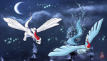 Articuo and Lugia christmas by shadowhatesomochao