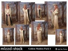 Golden Maiden Pack 4 by mizzd-stock