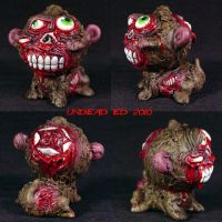 Zombie Monkey ooak by Undead-Art