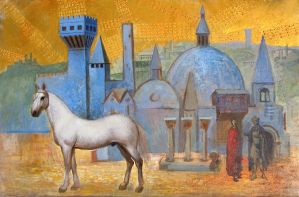 White Horse. Golden Sky. 2004 by Yudaev