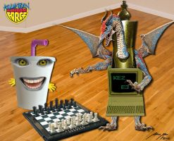 ATHF- Ezekial vs. Chess Dragon by BoredRobot