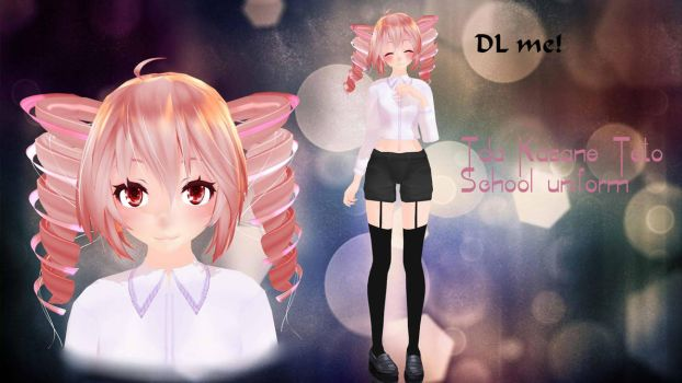 [MMD] |DL| - TDA Kasane Teto - School uniform by MissCrazyPuppet