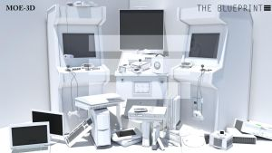 The Blueprint: game console_white by Mo3D