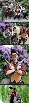 Steampunk Air Pirates - Characters by Malinidk