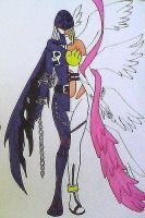 Ladydevimon/Angewomon by Mokomo43
