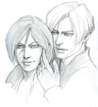 Leon and Ada by me9999
