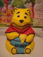 pooh 3d cake by nlpassions