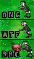 Plants Vs Zombies - OMGWTFBBQ by PunkyArteest