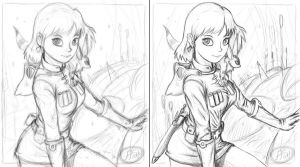 Nausicaa Sketch preview by 14-bis