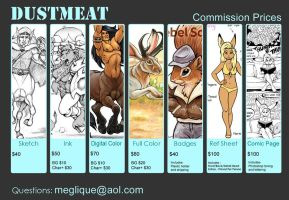 Commission Prices by Dustmeat