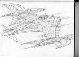 space fighter sketch 2 by mikemars