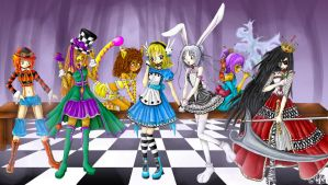 Alice in Wonderland: Tea Party by Tragic-Ballerina