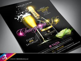 Champagne Life Flyer Template by AnotherBcreation
