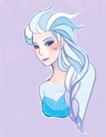 Elsa cold portrait by Yasasu