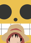 One Piece Film Z Minimalist Poster - Luffy by MinimallyOnePiece