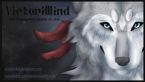 VictoriWind Business Card + speedpaint by VictoriWind