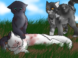 The death of Snowfur by Starlygreen1