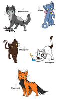 Warrior Cat Adopts! {CLOSED} by SNlCKERS