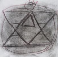 Notebook Work #1: Flame Alchemy Symbol by Guardian-of-Legends