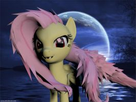 Fluttershy - The Flutterbat Form by Rachidna