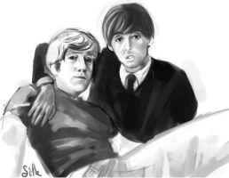 The Beatles - John and Paul by Sifle