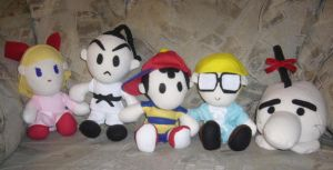 Earthbound complete plush set by pandari