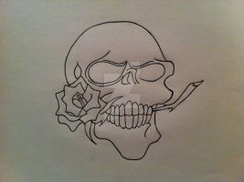 Skull and Rose by CJG9774