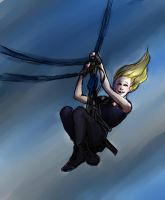 Divergent: Tris on the zipline by pebbled