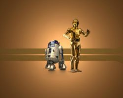 C3PO v R2D2 by 1darthvader