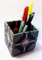 Companion Cube Box by i-am-a-decoy