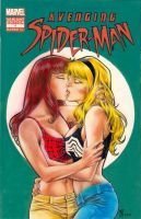 Gwen and MJ cover commission by huy-truong