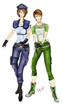 Jill Valentine and Rebecca Chambers by divadonna224