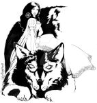 Bigby Wolf and Snow White by EdaWoocya