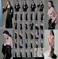 Stock: Chelsea Christian Nudes with Velvet Gown by MordsithCara