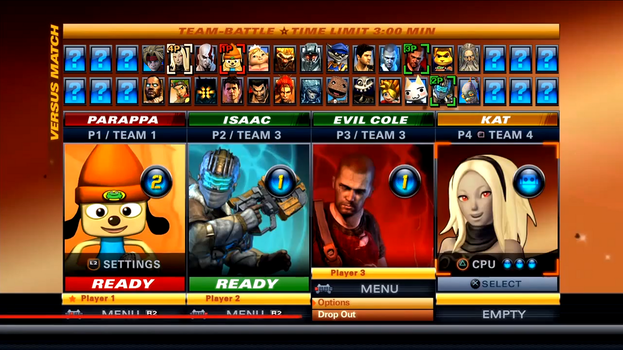 PlayStation All-Stars Battle Royale Roster v.4 by NintendoFanDj